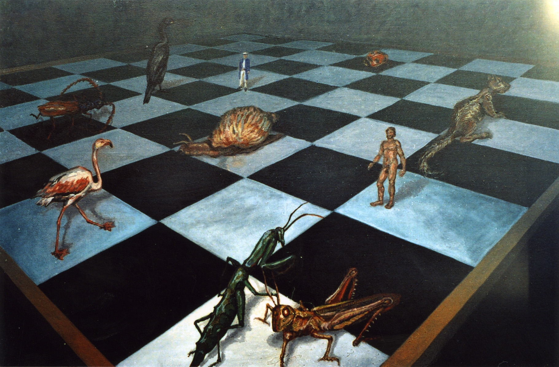 8.1.2 The chess game. Oil 50x61cm